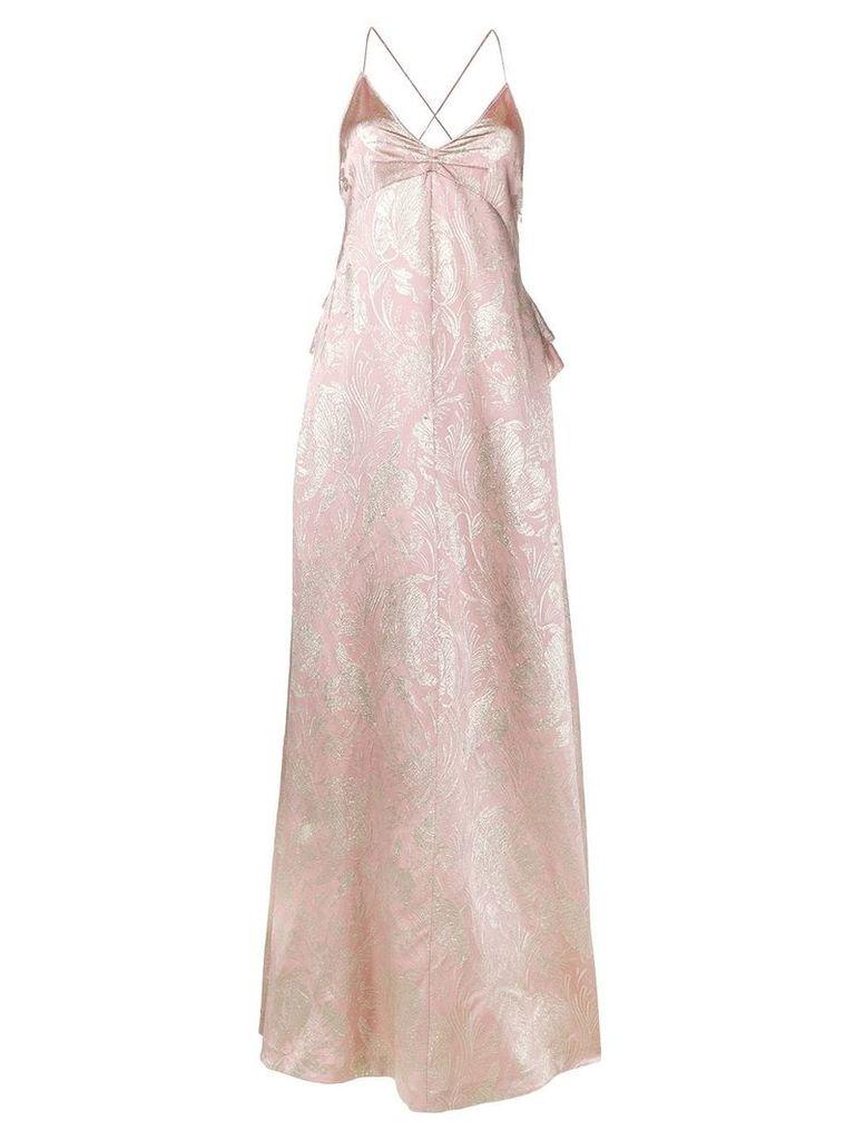 Rochas Brocade silk evening dress - Pink