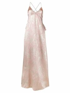 Rochas Brocade silk evening dress - Pink