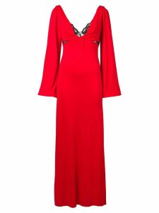 Christopher Kane lace bra long dress - Red