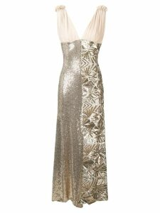 P.A.R.O.S.H. sequin embellished dress - Gold