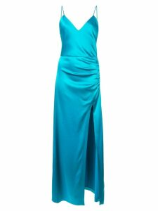 Alice+Olivia Fallon ruched long dress - Blue