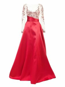 Marchesa Notte empire line flared dress