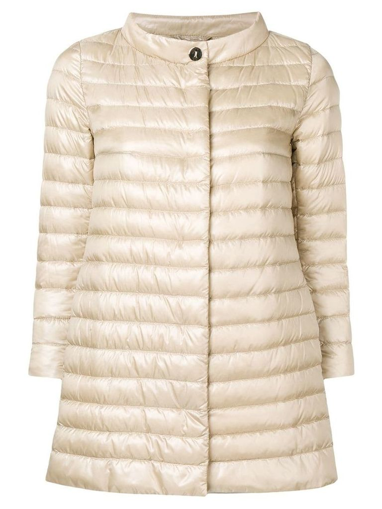 Herno padded fitted jacket - Neutrals