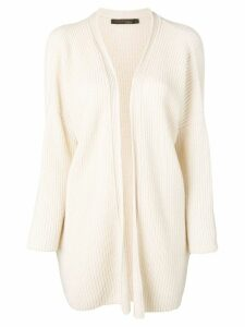 Incentive! Cashmere ribbed knit cardigan - Neutrals