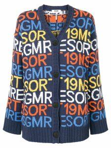 MSGM Resort 19 cardigan - Blue