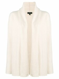 Theory ribbed open front cardigan - White
