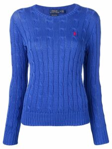 Polo Ralph Lauren logo cable knit sweater - Blue
