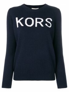 Michael Michael Kors logo crew neck jumper - Blue