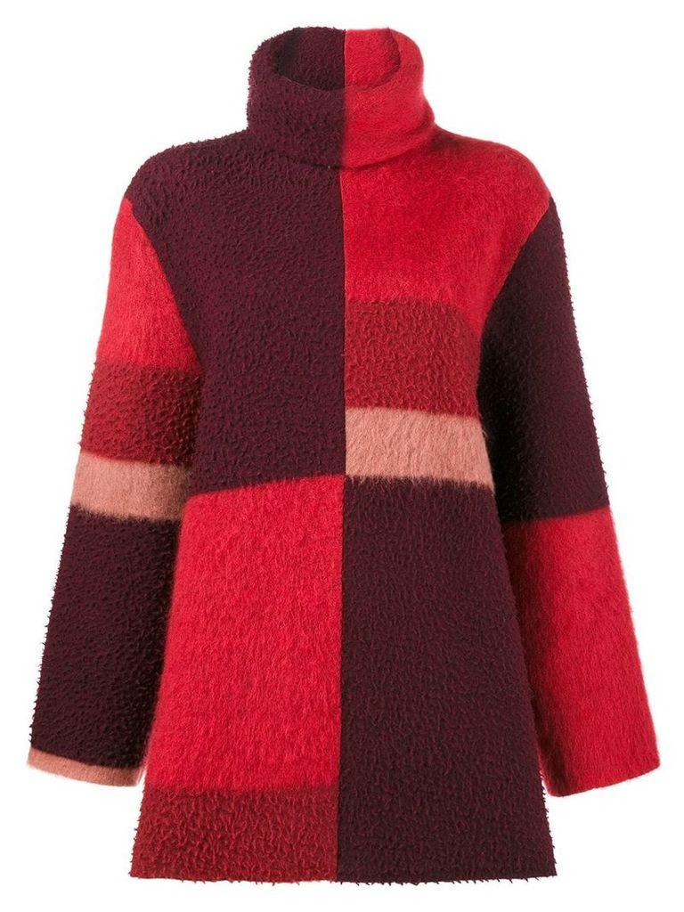 Roksanda Ekema oversized colour block jumper - Red