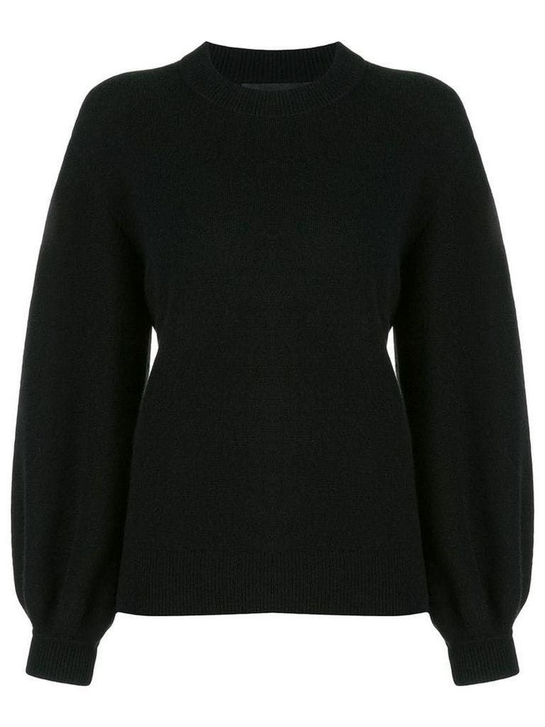 Proenza Schouler Cashmere Puff Sleeve Sweater - Black