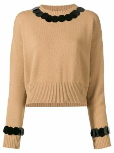 Marni disc embellished jumper - Neutrals