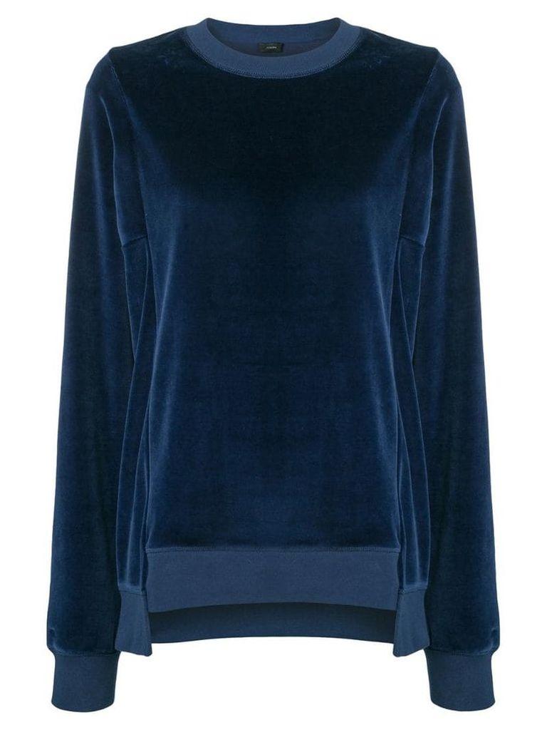 Joseph velvet sweatshirt - Blue