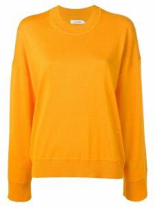 Calvin Klein logo embroidered sweater - Yellow
