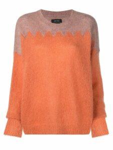 Isabel Marant contrast panel knit sweater - Orange
