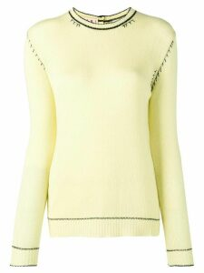 Marni basic cashmere jumper - Yellow