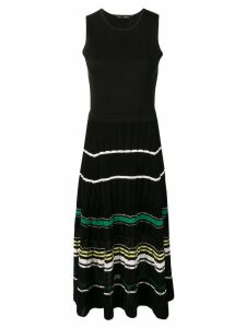 Proenza Schouler Striped Rib Dress - Black