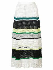 Proenza Schouler Striped Knit Skirt - Black