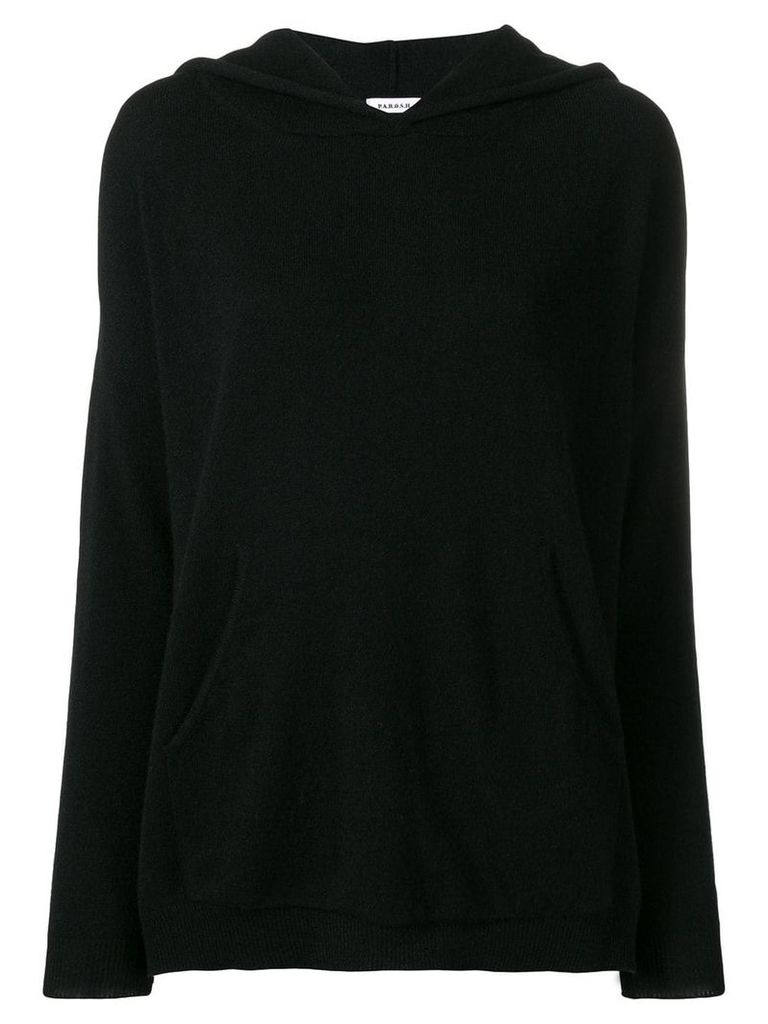 P.A.R.O.S.H. cashmere knitted hoodie - Black