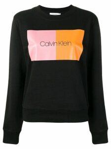 Calvin Klein logo sweatshirtc - Black