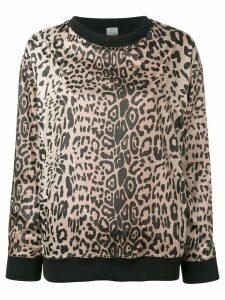 Pinko pinko c-clique leopard print sweatshirt - Black