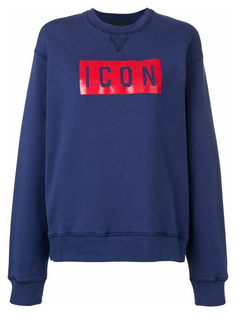 Dsquared2 Icon print sweatshirt - Blue