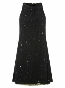 Womens **Showcase Black Trapeze Dress- Black, Black