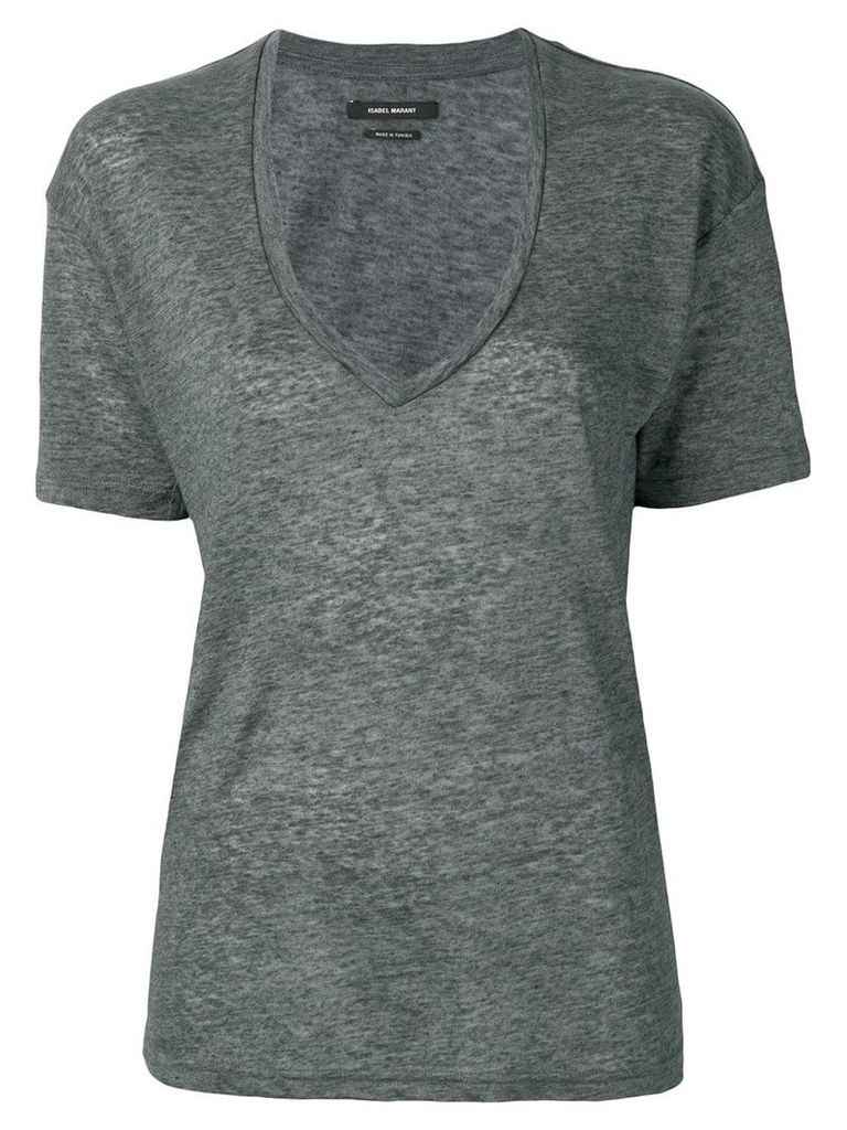 Isabel Marant deep v-neck T-shirt - Grey