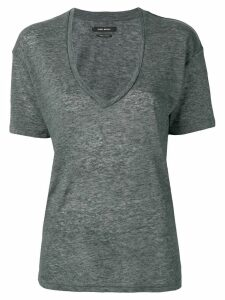Isabel Marant deep v-neck T-shirt - Grey