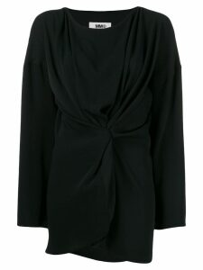 Mm6 Maison Margiela draped knotted top - Black