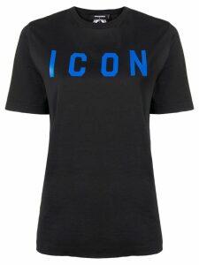 Dsquared2 Icon slogan T-shirt - Black