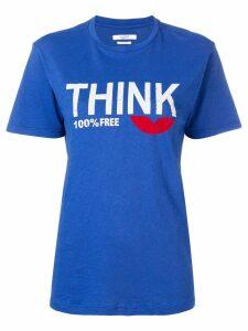 Isabel Marant Étoile Think slogan T-shirt - Blue