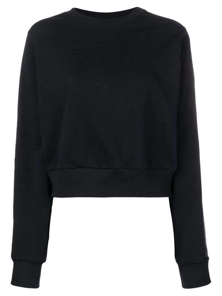 No Ka' Oi tape sleeve sweatshirt - Black