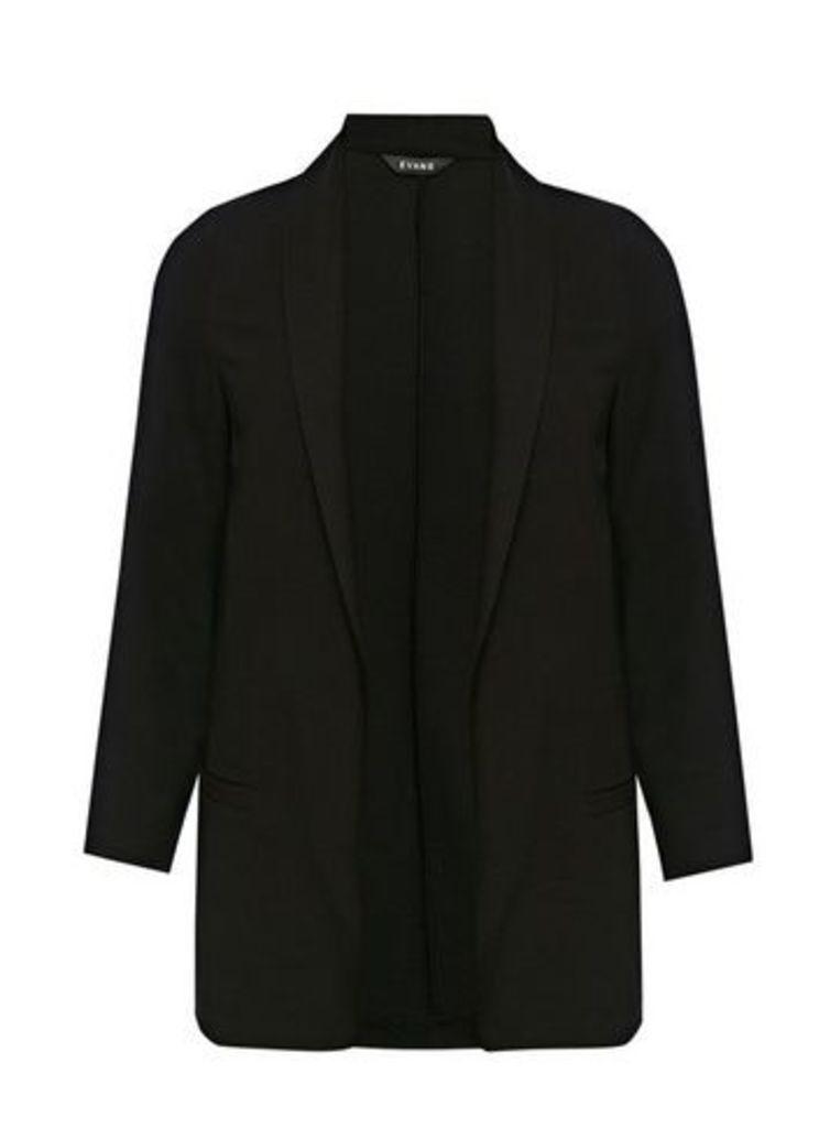 Black Textured Blazer, Black