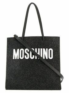 Moschino glitter tote bag - Black