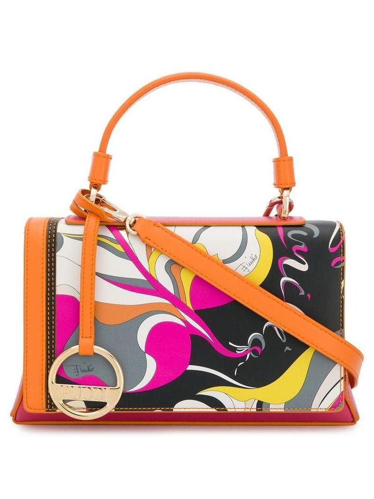 Emilio Pucci Frida Print Pilot Tote Bag - Orange