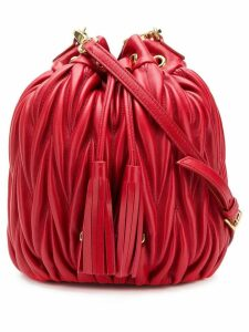 Miu Miu matelassé bucket bag - Red