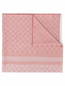 Gucci Pre-Owned GG print scarf - Pink