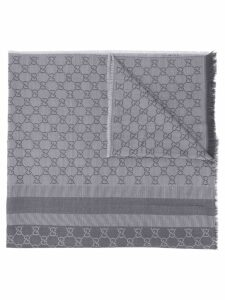 Gucci Pre-Owned GG print scarf - Grey