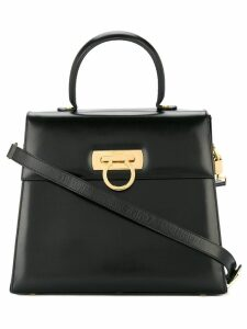 Salvatore Ferragamo Pre-Owned Gancini 2way hand bag - Black