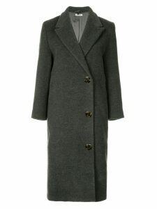 Miu Miu Pre-Owned double breasted midi coat - Grey