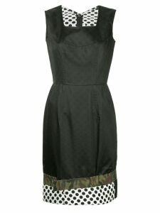 Comme Des Garçons Pre-Owned mix print pinafore dress - Black