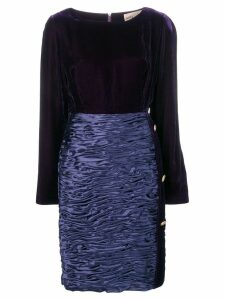 Mila Schon Vintage 1980 boat neck dress - Purple
