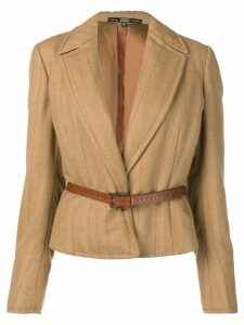 Gianfranco Ferre Pre-Owned 1990 striped jacket - Neutrals