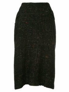 Yohji Yamamoto Pre-Owned mid-length skirt - Black
