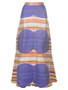 CHANEL PRE-OWNED geometric print skirt - Purple