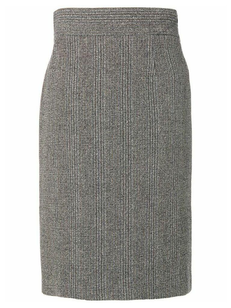 Prada Vintage knitted midi skirt - Grey