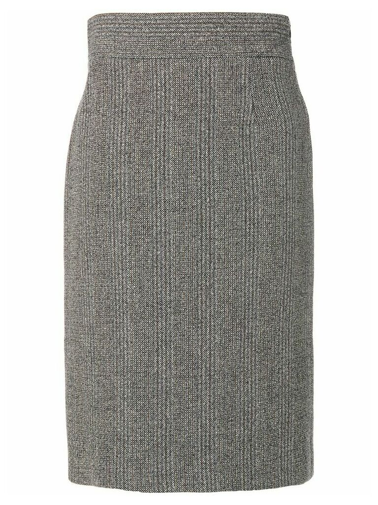 Prada Vintage knitted midi skirt - Grey