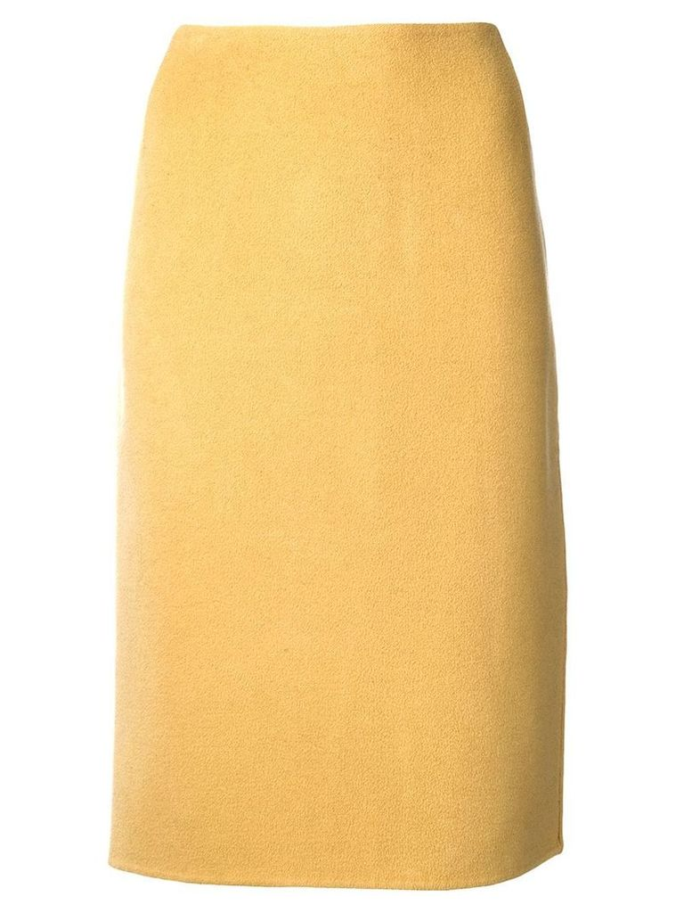 Versace Pre-Owned 1980 pencil skirt - Yellow