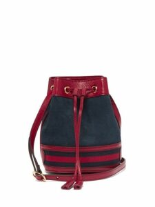 Gucci - Ophidia Mini Suede Bucket Bag - Womens - Red Navy