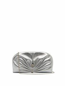 Jimmy Choo - Vivien Leather Clutch - Womens - Silver